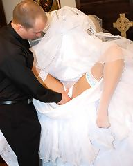 Jayden James is a sluty bride that needs to ride one more cock before getting married, so why not the priest's.