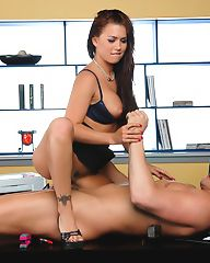 Eva Angelina gets her pussy fucked on her desk